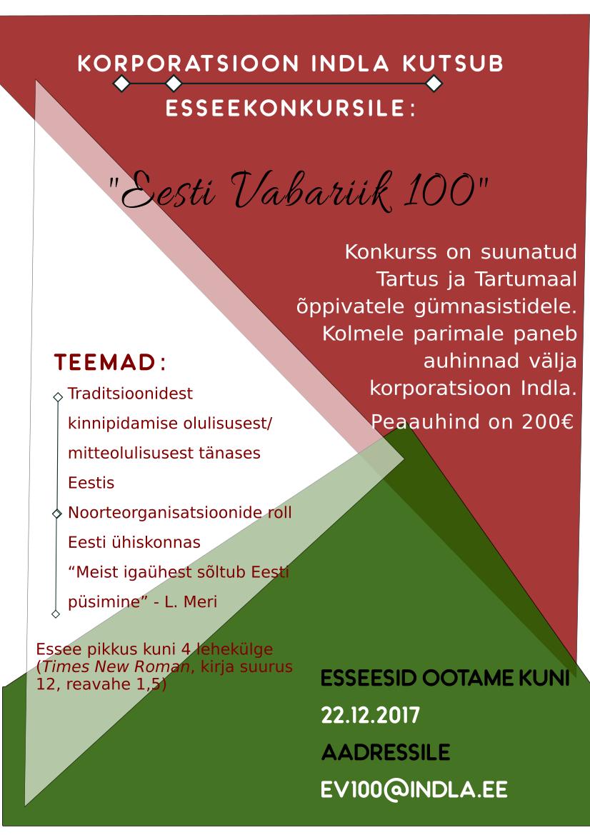 EV100 esseekonkurss
